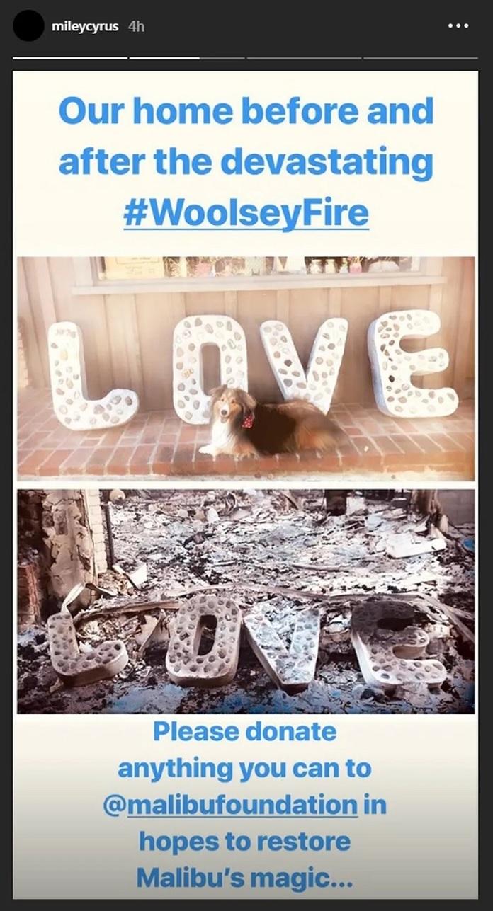 Incêndio casa Miley Cyrus
