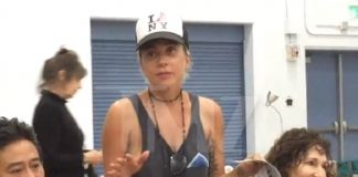 Lady Gaga em abrigo na California