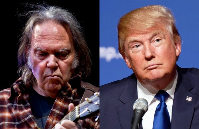 Neil Young e Donald Trump