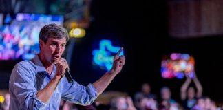 Beto O'Rourke em campanha pelo Texas, 2018