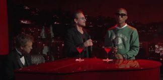 Bono e Pharrell cantam Bee Gees
