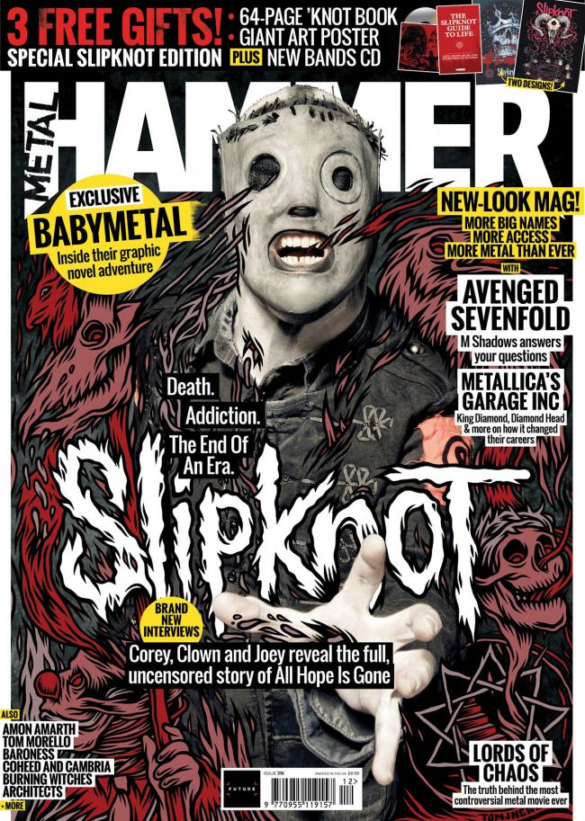 Capa da Metal Hammer com o Slipknot