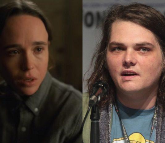 Ellen Page (Umbrella Academy) e Gerard Way (My Chemical Romance)