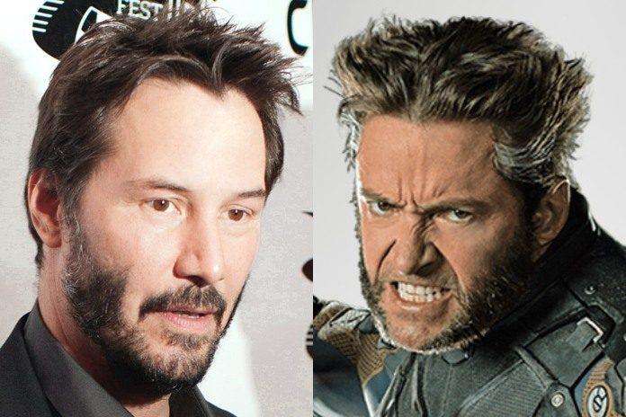 Keanu Reeves e Hugh Jackman (Wolverine)