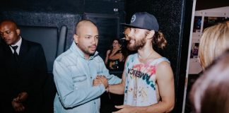 Projota e Jared Leto (Thirty Seconds to Mars)