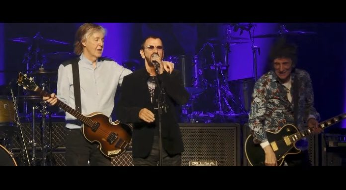Paul McCartney, Ringo Starr e Ronnie Wood
