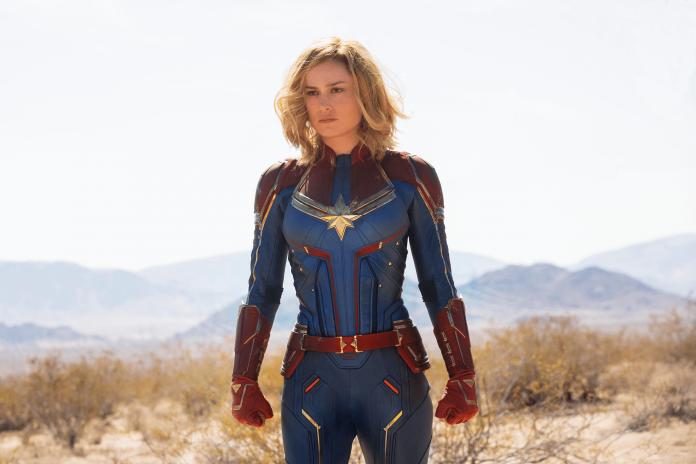 Brie Larson como a Capitã Marvel