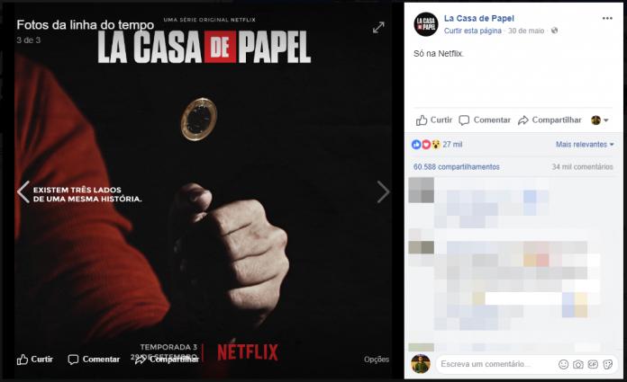 Cartaz falso da nova temporada de La Casa de Papel