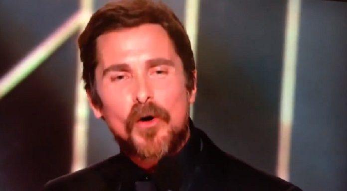 Christian Bale no Globo de Ouro