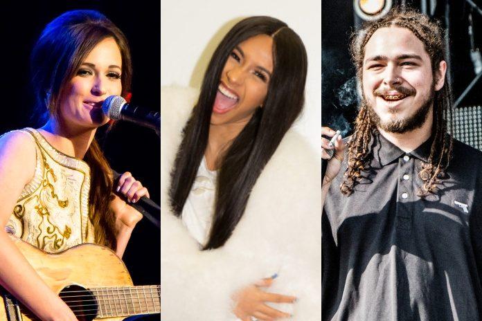 Kacey Musgraves, Cardi B e Post Malone (Grammy)
