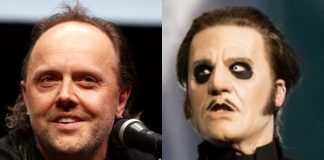 Lars Ulrich (Metallica) e Tobias Forge (Ghost)