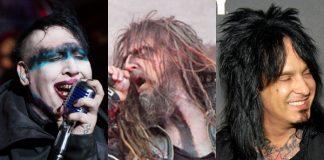 Marilyn Manson, Rob Zombie e Nikki Sixx