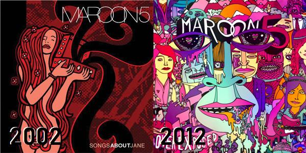 Maroon 5 - de Songs About Jane até Overexposed
