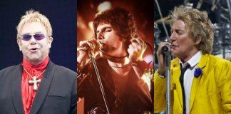 Supergrupo com Elton John, Freddie Mercury e Rod Stewart