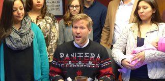 Tim Keller prefeito de Albuquerque suéter Pantera