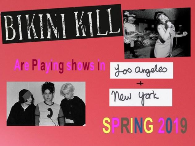 Bikini Kill anuncia três shows de reunião