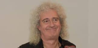Brian May, do Queen, em 2017