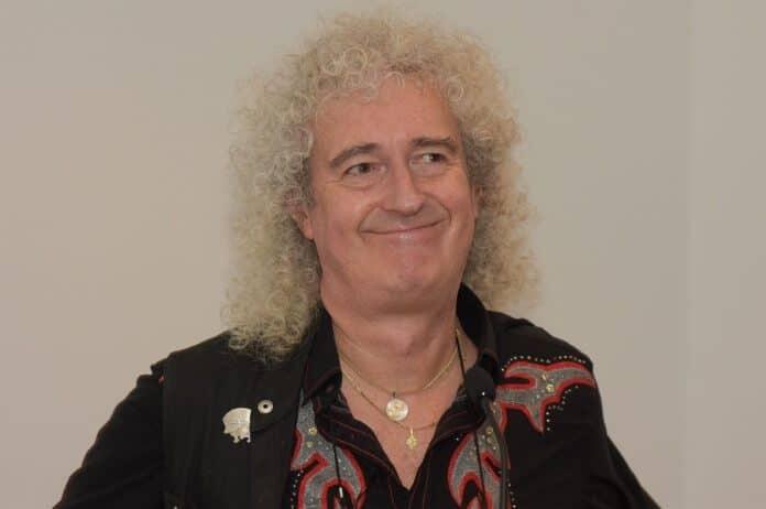 Brian May, do Queen, em 2017
