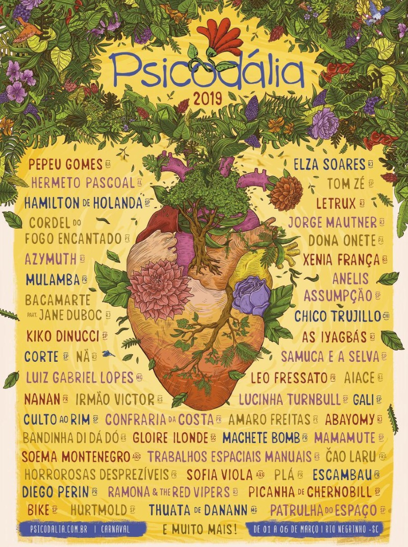 Cartaz do Festival Psicodália 2019