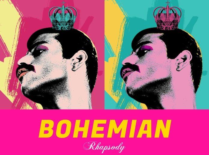 Pôster de Bohemian Rhapsody inspirado em Andy Warhol