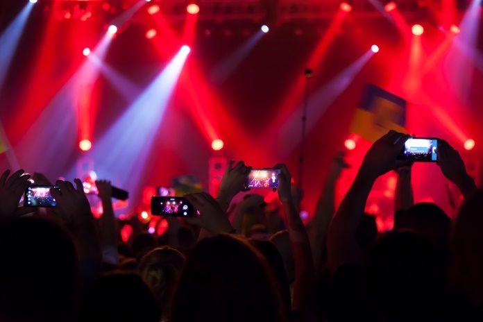 Smartphones em shows