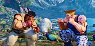 Ryu e Guile em Street Fighter (Capcom)