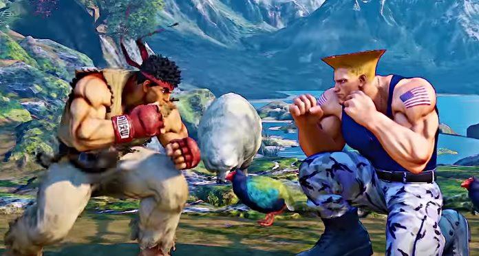 Ryu e Guile em Street Fighter (Capcom)