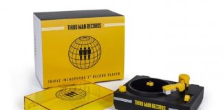 Vitrolinha da Third Man Records para discos de 3 polegadas
