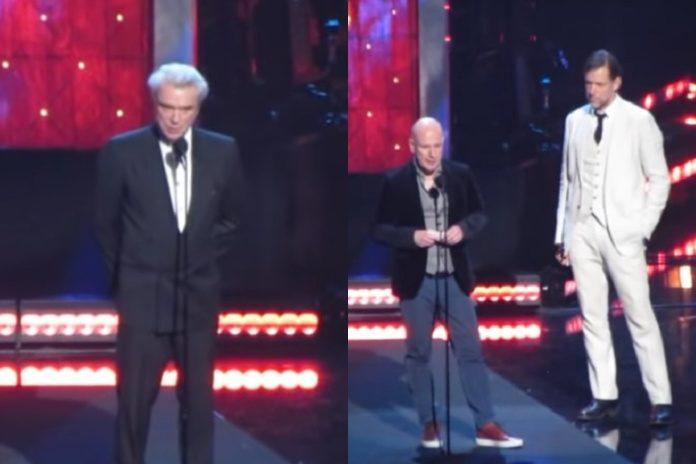 David Byrne e Radiohead Hall of Fame