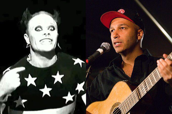 Keith Flint (Prodigy) e Tom Morello (Rage Against The Machine)