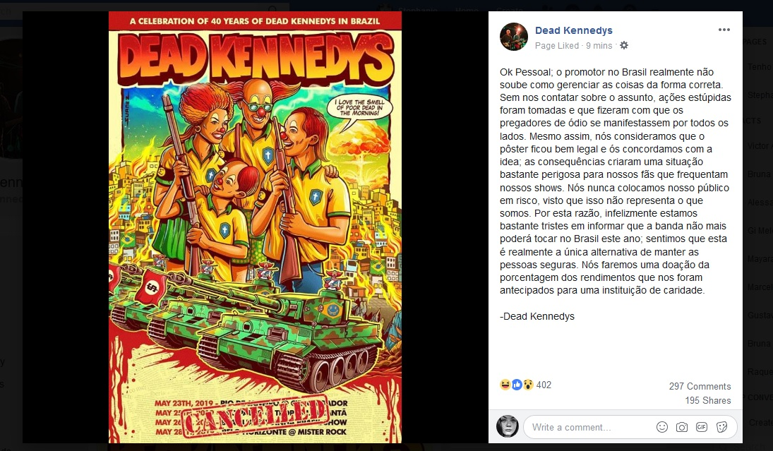 Dead Kennedys Cancela Shows no Brasil