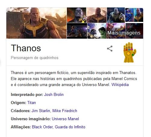 Thanos Google Vingadores 1