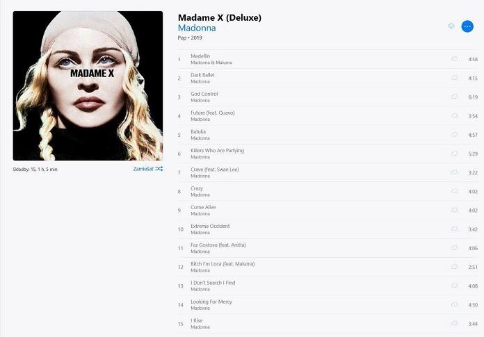 Tracklisting Madame X da Madonna