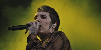 Oli Sykes (Bring Me The Horizon) no Lollapalooza Brasil