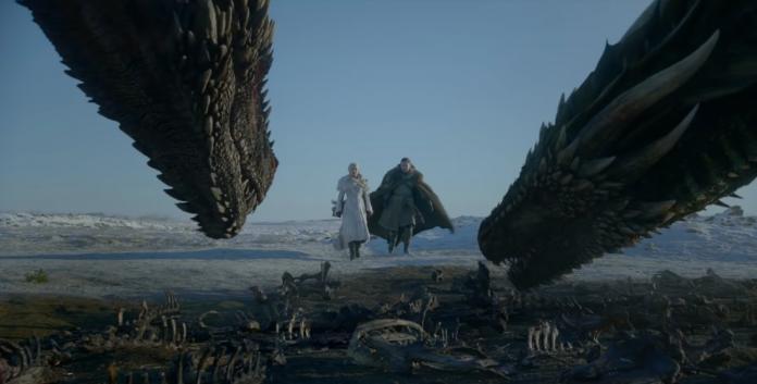 Game of Thrones - Daenerys, Jon Snow e os dragões