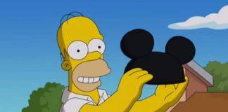 Homer Simpson veste chapéu do Mickey