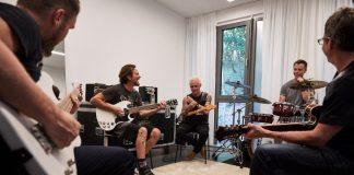 Pearl Jam no backstage em Berlim, 2018