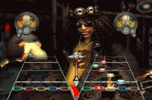 Slash e Tom Morello em Guitar Hero III: Legends of Rock