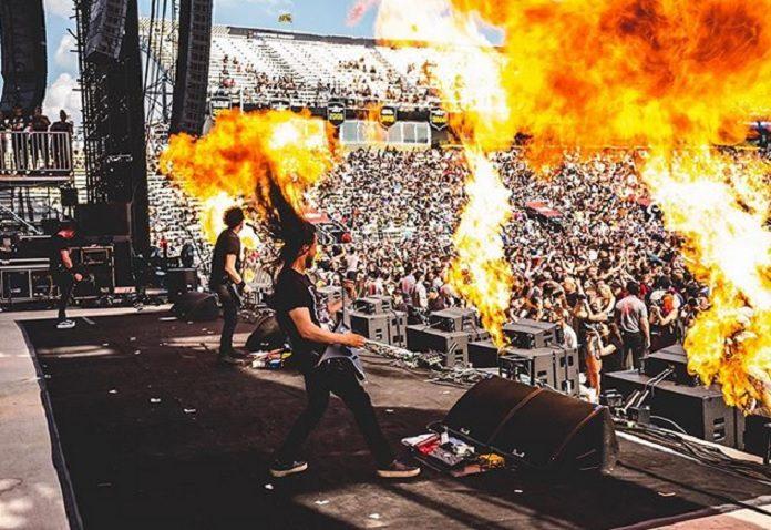 Gojira guitarrista queimado