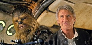Han Solo (Harrison Ford) e Chewbacca (Peter Mayhew) em Star Wars