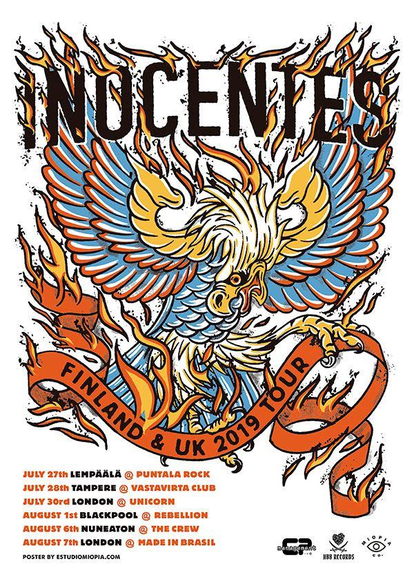 Inocentes, datas da turnê internacional