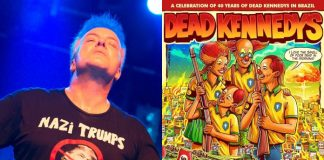 Jello Biafra e pôster do Dead Kennedys
