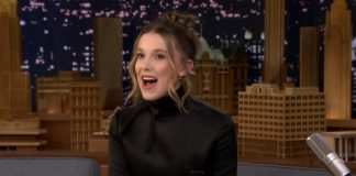 Millie Bobby Brown no Jimmy Fallon