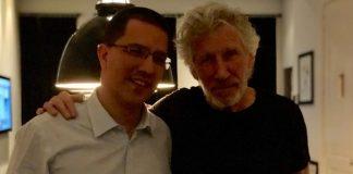Roger Waters com Ministro da Venezuela