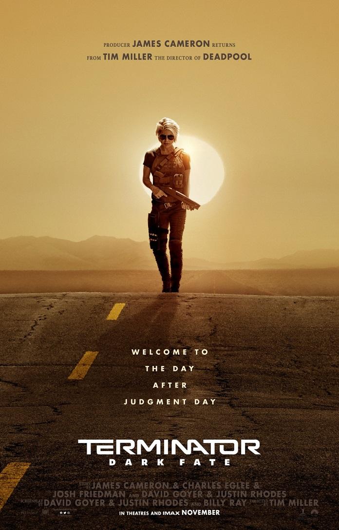 Sarah Connor (Linda Hamilton) em Exterminador do Futuro- poster