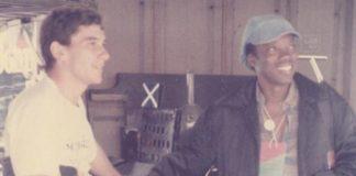 Ayrton Senna e Milton Nascimento