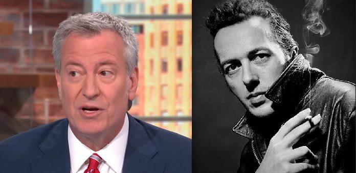Bill de Blasio é fã de The Clash