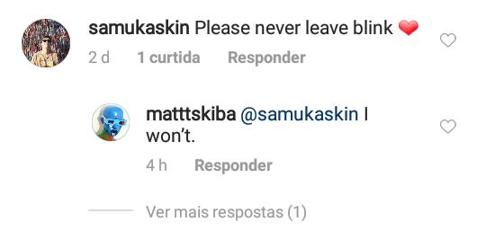 Matt Skiba diz que não deixará o blink-182