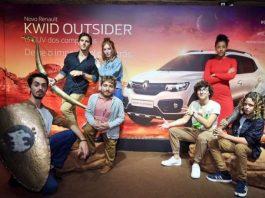Elenco de campanha da Renault com Caverna do Dragão