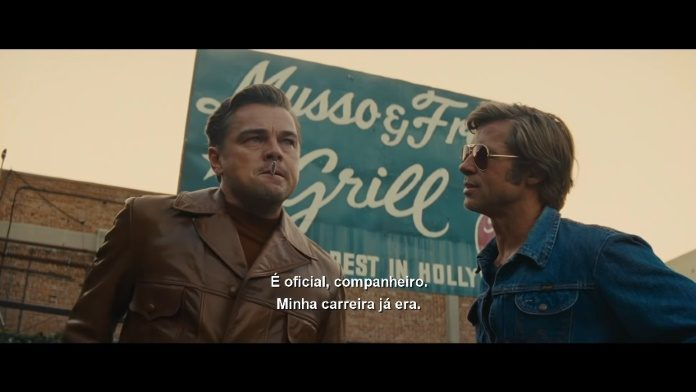 Leonardo DiCaprio e Brad Pitt em trailer de Era Uma Vez Em... Hollywood